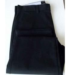 Calça esporte fino preta, tradicional com bolso faca. Ref.  1448
