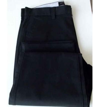 Calça esporte fino preta, tradicional com bolso tipo faca, cód 1448