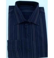 Camisa preta, manga longa de algodão, tipo  exportação, cód. 856