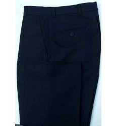Calça social masculina azul escuro modelo tradicional, cód. 1380