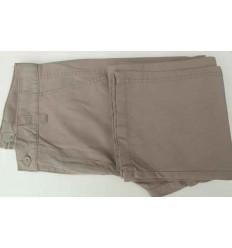 Calça esporte fino, cor kaki de algodão, Ref 1079