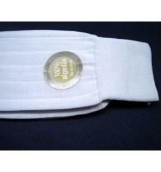 Meias masculinas de puro algodão fio escócia, cor branca de ótima qualidade, cód 561B
