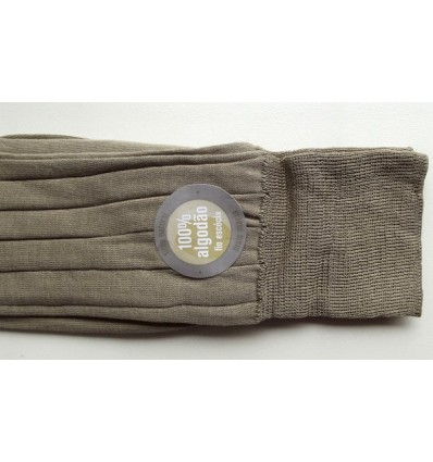 Meias masculinas de puro algodão fio escócia, cor caqui de ótima qualidade,  cód 561C