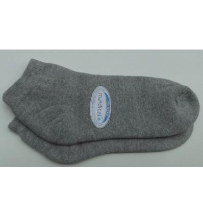 Meias sapatilha, cinza mescla com proteção contra odores, cód 881