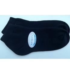 Meias sapatilha, preta com proteção contra odores, cód 881