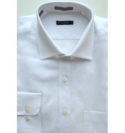 Fredao Moda Masculina Camisa de linho branca, manga longa em tecido de ótima qualidade, cód 1494  Entrega imediata com todas g