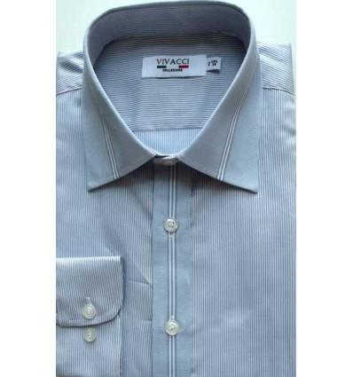 Camisa passa fácil, cor cinza manga longa, padrão exportação,  cód 1423C