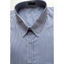 Camisa da coleção extra grande, manga curta, cor prata com listras brancas, em tecido 100% algodão, fio 100, cód 979