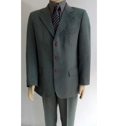 Terno cinza em tecido de linhão, modelo de 3 botões, corte e modelo italiano, (com duas aberturas atrás), cod 551