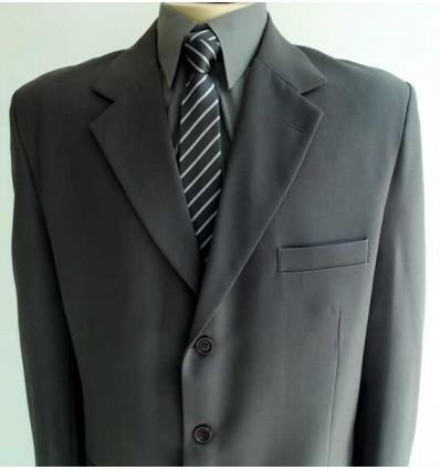 Fredao Moda Masculina Terno extra grande, cor marrom, modelo tradicional de três botões, cod 978 Entrega imediata com todas ga