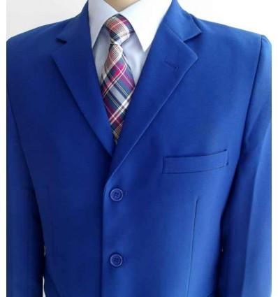 Terno azul royal, corte tradicional em tecido de microfibra oxford, cód 1364 Entrega imediata