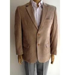 Fredao Moda Masculina Blazer bege em veludo 100% poliéster, dois botões, corte italiano, cód 1464 Entrega imediata com todas