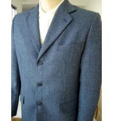 Blazer tradicional, de cor azul em tecido 100% lã de ótima qualidade, cód. 1157