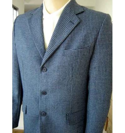 Blazer masculino azul em tecido 100% lã. Ref. 1157 Entrega imediata