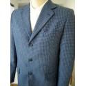 Blazer masculino azul em tecido 100% lã. Ref. 1157