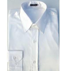 Camisa prata em tecido de cetim de poliéster com brilho, manga longa, cód 1498PTB