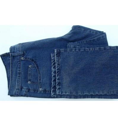 Calça pierre cardin, jeans na cor azul escuro em  tecido de algodão com elastano, cód 1519
