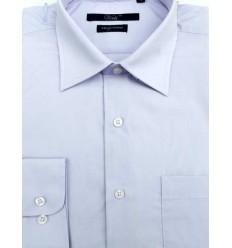 Camisa azul clara, manga longa em tecido passa fácil, padrão exportação,  Cód. 996