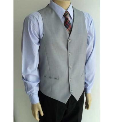 Fredao Moda Masculina Colete para terno modelo tradicional, cor cinza em poliviscose, cód 1422 Entrega imediata com todas garan