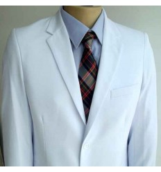 Terno branco em tecido de gabardine, dois botões, corte tradicional com ótima qualidade , cód 1408