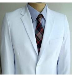 Terno branco tradicional de gabardine, ref. 1408