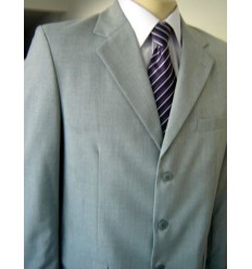 Terno costume cinza, corte italiano em tecido tropical, cód 1194