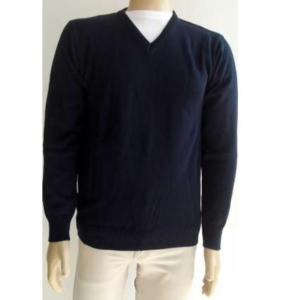 Blusa de lã acrílica azul, super macia e antialérgica com ótima qualidade. Cód. 1168