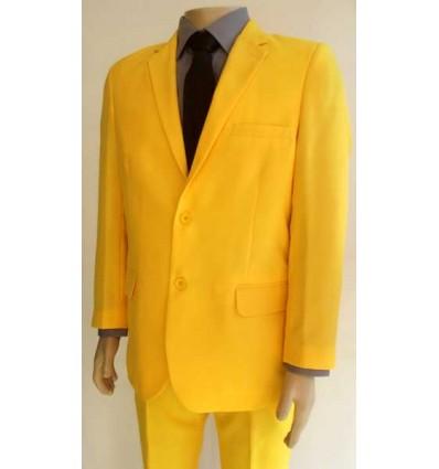Terno amarelo, corte tradicional com 2 botões em tecido de microfibra oxford, cód 1364