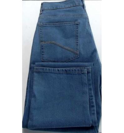 Calça Pierre Cardim com elastano, tradicional, cor azul claro, coleção nova. Cod 1544