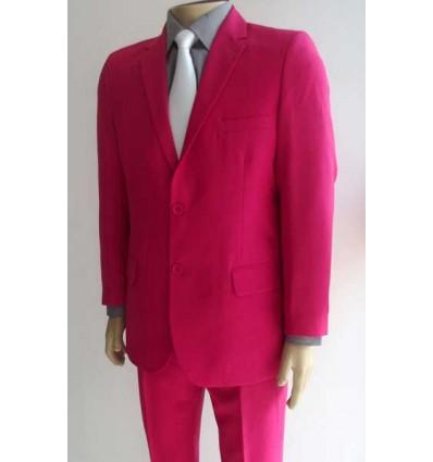 Fredao Moda Masculina Terno pink em microfibra oxford, modelo 2 botões, em tecido de microfibra oxford, cód 1364 Entrega imedi