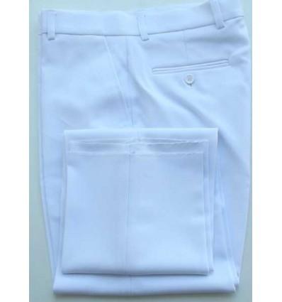 Fredao Moda Masculina Calça branca social em tecido de panamá, modelo tradicional de ótima qualidade, cód 1385 Entrega imedi