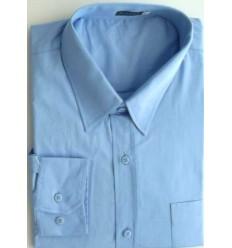 Camisa extra grande, azul clara, manga longa de algodão da coleção Plus Size, ref.  650