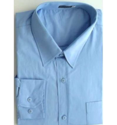 Camisa extra grande, azul clara, manga longa de algodão da coleção Plus Size, ref.  650 Entrega imediata