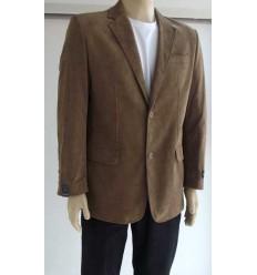 Blazer marrom com 2 botões, corte inglês em tecido 100% de algodão, cód. 1254