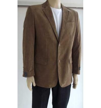 Fredao Moda Masculina Blazer marrom com 2 botões, corte inglês em tecido 100% de algodão, cód. 1254 Entrega imediata com tod