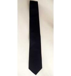 Gravata slim azul noite modelo longa de jacquard, 100% poliéster, cód 1474-SL