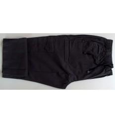 Calca cargo tamanho grande com seis bolsos, cor preta em tecido 100% de algodão, cód 1301