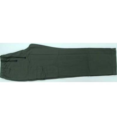 Calca cargo tamanho grande com seis bolsos, cor musgo em tecido 100% de algodão, cód 1301