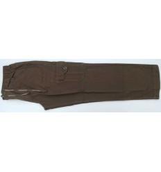 Calca cargo tamanho grande com seis bolsos, cor kake em tecido 100% de algodão, cód 1301