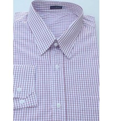 Camisa plus size masculina de algodão, manga comprida, quadriculada, Cód 991PA