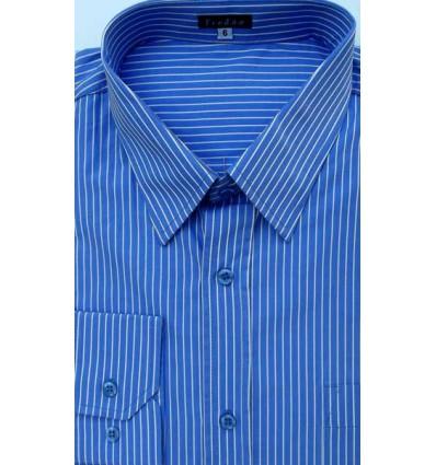Camisa plus size, extra grande  masculina de algodão, manga comprida, azul, Cód 991AL