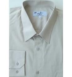 Camisa plus size, extra grande de algodão, cor bege manga comprida, Cód 991BG