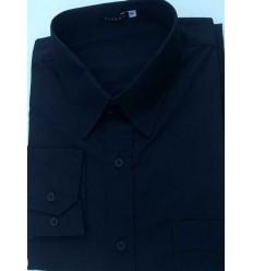 Camisa extra grande preta, manga longa de algodão da coleção Plus Size. Ref.  650