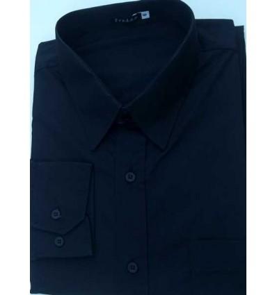 Fredao Moda Masculina Camisa extra grande preta, manga longa de algodão da coleção Plus Size. Ref.  650 Entrega imediata com