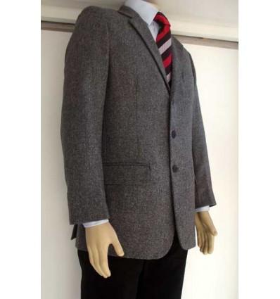 Blazer cinza em tecido 100% de lã tweed de excelente qualidade, corte italiano, cód 1157