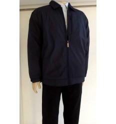 Jaqueta extra grande azul escuro (plus size) em tecido de poliéster importado, cod 988