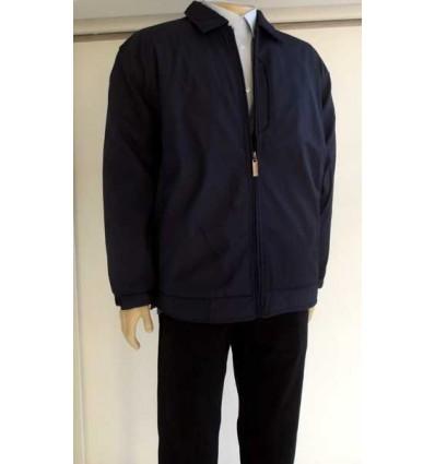 Jaqueta extra grande azul escuro (plus size) em tecido de poliéster importado, cod 988 Entrega imediata com todas garantias da