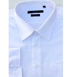 Camisa branca Extra Grande (plus size) passa fácil manga longa, cód. 1461