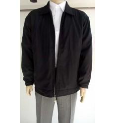 Jaqueta extra grande preta (plus size) em tecido de poliéster importado, cod 988