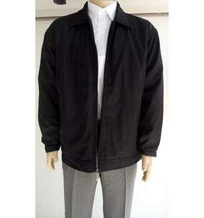 Jaqueta extra grande preta (plus size) em tecido de poliéster importado, cod 988 Entrega imediata com todas garantias da Empre